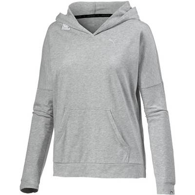puma hoodie damen hellgrau im online shop von sportscheck. Black Bedroom Furniture Sets. Home Design Ideas