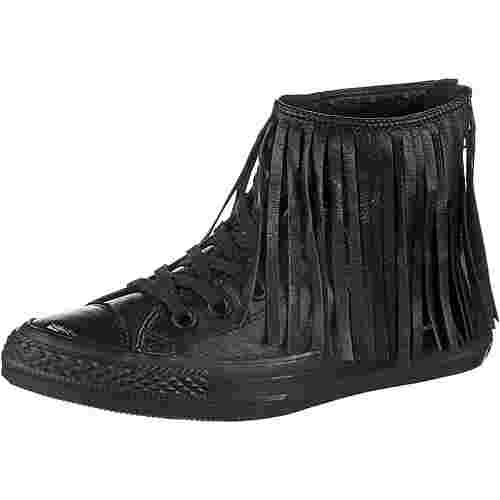 CONVERSE Chuck Taylor All Star Fringe Leather Sneaker Damen schwarz