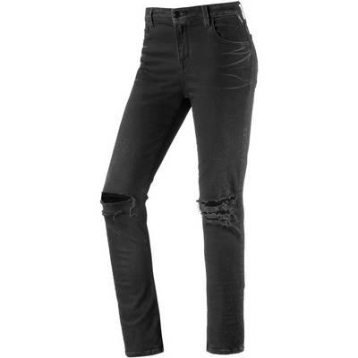 REPLAY Cherilyn Skinny Fit Jeans Damen black destroyed denim