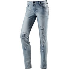 TIMEZONE AleenaTZ Skinny Fit Jeans Damen destroyed denim