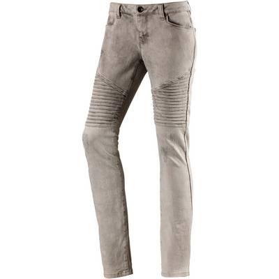 DEPT Bikerjeans Skinny Fit Jeans Damen grey denim