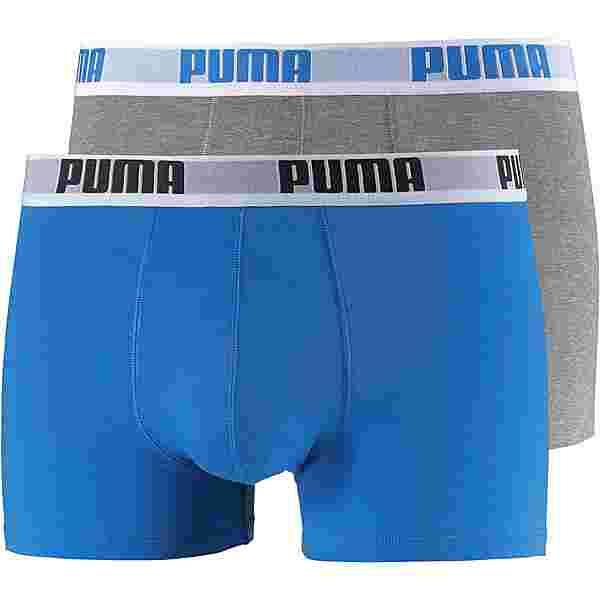 PUMA Boxer Herren graumelange-hellblau