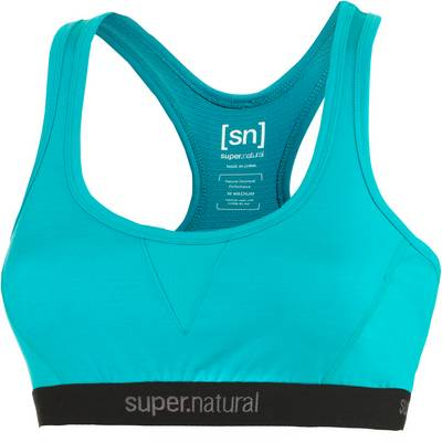 super natural Semplice Merino Sport-BH Damen türkis