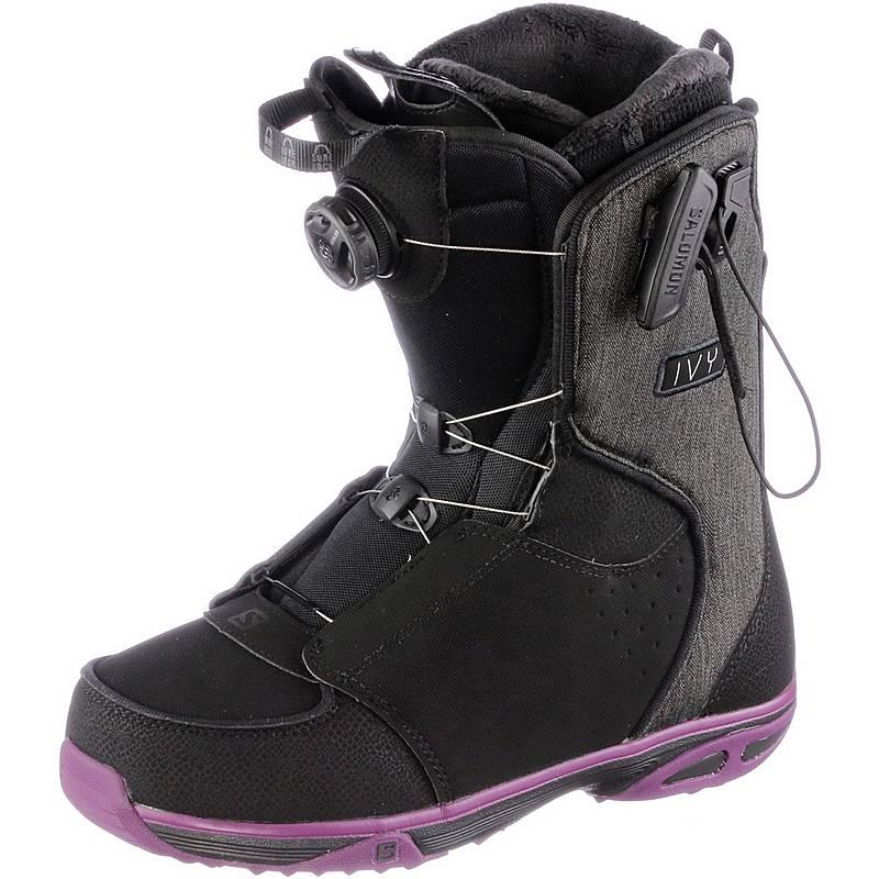 SalomonIVY BOA SJ  Snowboard BootsDamen  BLACK/Purple/BK