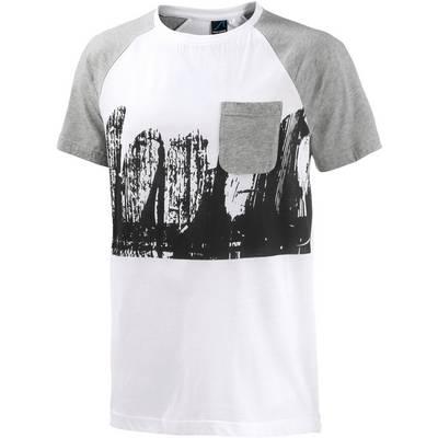 Maui Wowie Printshirt Herren weiß/grau