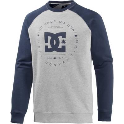 DC Rebuilt Crew Raglan Sweatshirt Herren graumelange/navy