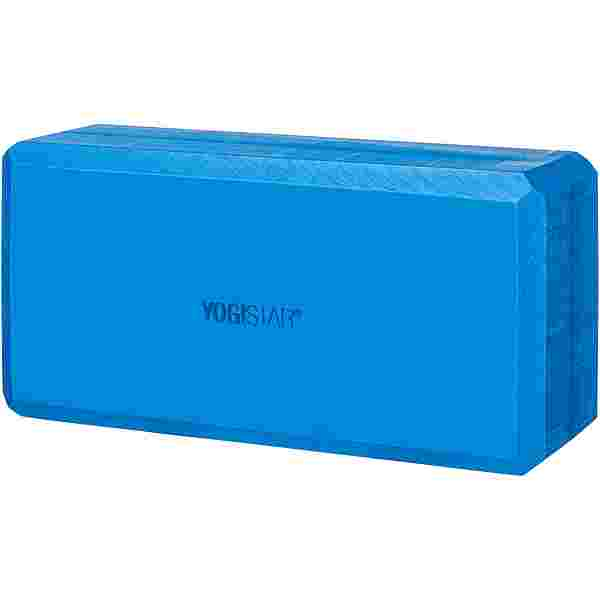 YOGISTAR.COM Basic Yoga Block blau