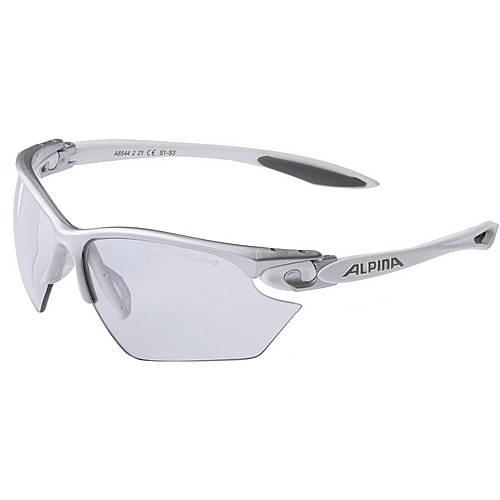 ALPINA TWIST FOUR S VLM+ Sportbrille silberfarben/weiß