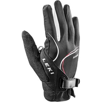 LEKI Nordic Lite Shark Long Nordic Walking Handschuhe schwarz/weiß/rot