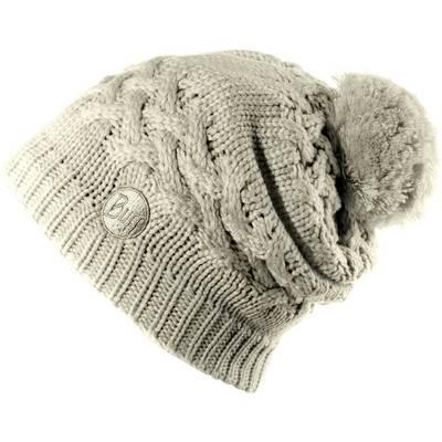 BUFF Knitted & Polar Hat Bommelmütze sand