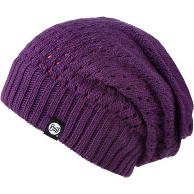BUFF Knitted Neckwarmer Hat Beanie pflaume
