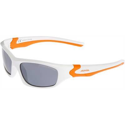 ALPINA FLEXXY TEEN Sportbrille Kinder weiß/orange