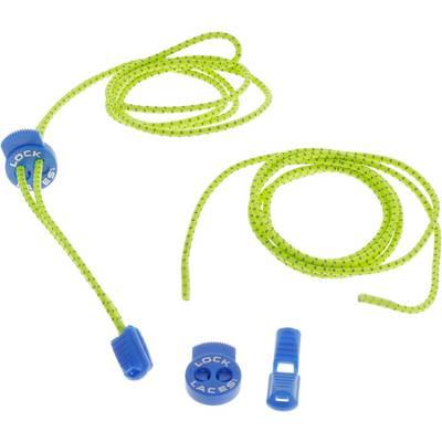 NATHAN Lock Laces Reflectiv Schuhbänder gelb/blau