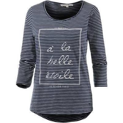 TOM TAILOR T-Shirt Damen navy/weiß