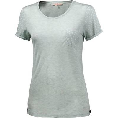 TOM TAILOR T-Shirt Damen grau/mint