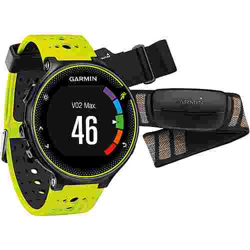 garmin forerunner 230 hr sportuhr schwarz gelb im online. Black Bedroom Furniture Sets. Home Design Ideas