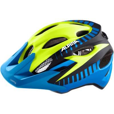 alpina carapax jr flash fahrradhelm kinder blau gelb im. Black Bedroom Furniture Sets. Home Design Ideas