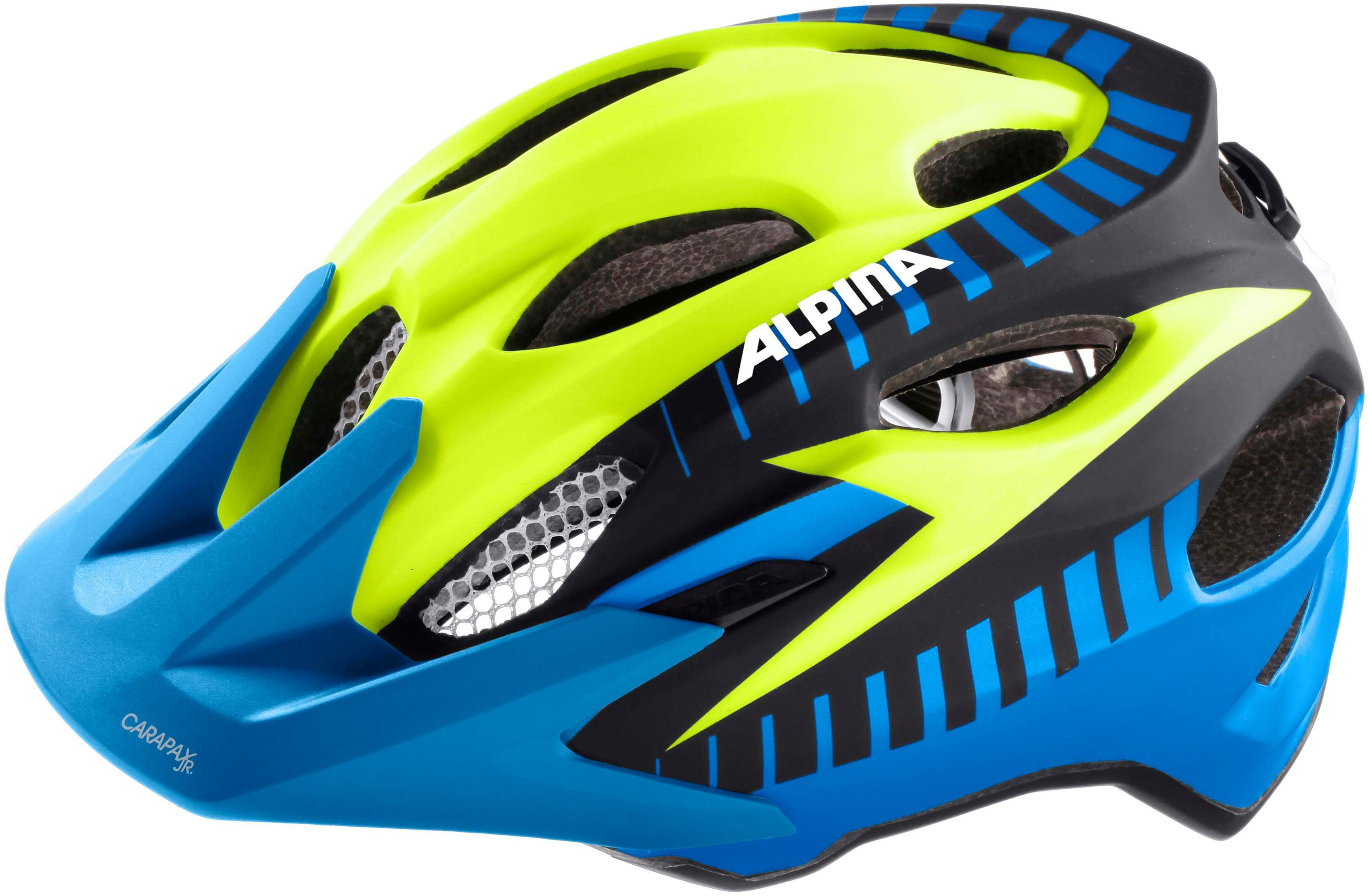 best alpina carapax jr flash fahrradhelm kinder blaugelb with fahrradhelm fr kinder
