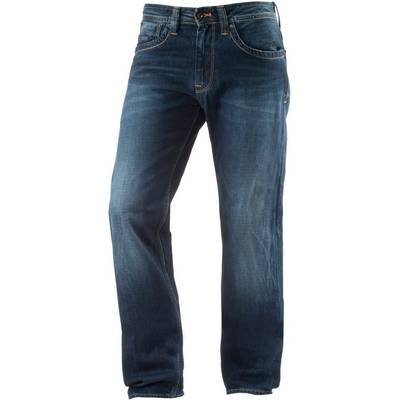 Pepe Jeans Kingston Zip Loose Fit Jeans Herren dark blue denim