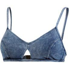 Seafolly Deja Blue Bikini Oberteil Damen jeansblau