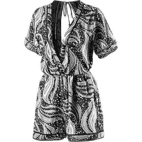 Volcom Swamis Romper Jumpsuit Damen schwarz/weiß