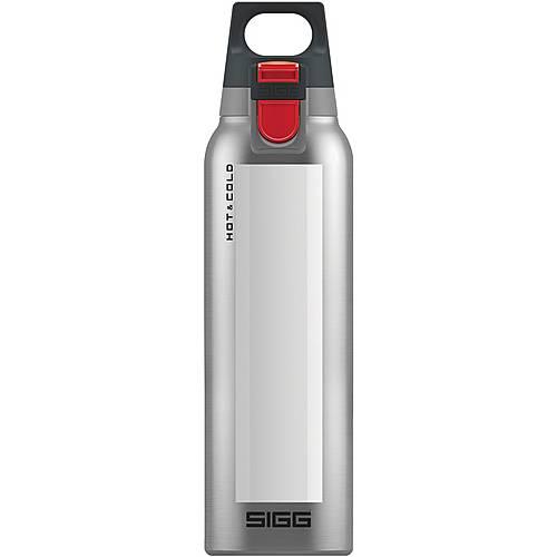 SIGG Hot & Cold One Trinkflasche weiß-silberfarben