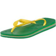 Havaianas Brasil Logo Zehensandalen Herren grün/gelb