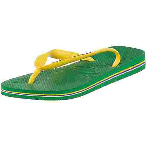 Havaianas Brasil Logo Zehentrenner Herren grün/gelb
