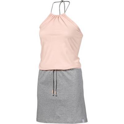 iriedaily Neckholderkleid Damen rosa/grau