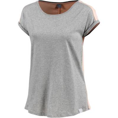 iriedaily Backside T-Shirt Damen grau/rosa