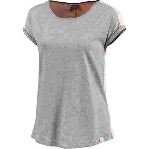 iriedaily Backside T-Shirt Damen grey melange