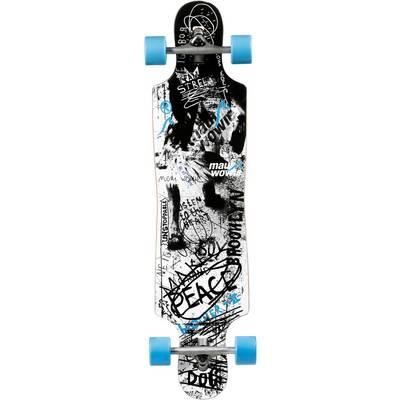 Maui Wowie Peace Longboard-Komplettset Schwarz/Hellblau