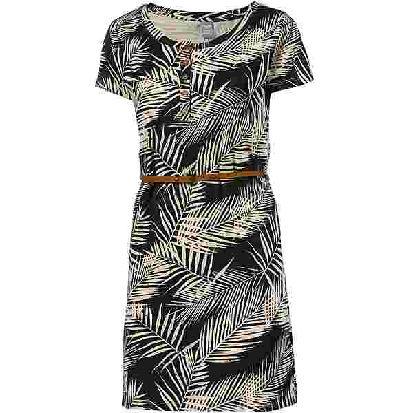iriedaily LA PALMA Kleid Damen schwarz-weiß