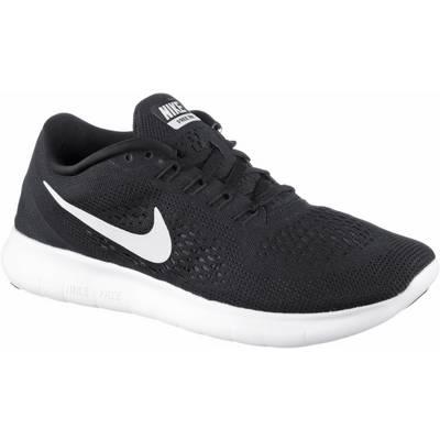 Nike Free Run Laufschuhe Damen schwarz/weiß