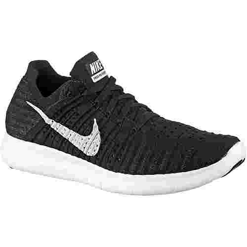 Nike Free Run Flyknit Laufschuhe Damen schwarz/weiß im Online Shop ...