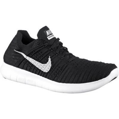 Nike Free Run Flyknit Laufschuhe Herren schwarz/weiß