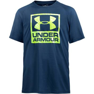 Under Armour HeatGear Boxed Logo Funktionsshirt Herren blau