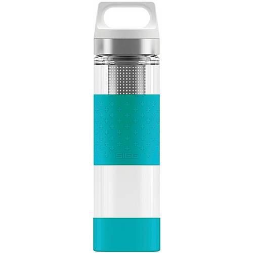 SIGG Hot & Cold Glass Trinkflasche aqua