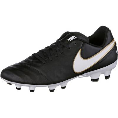 Nike TIEMPO GENIO II LEATHER FG Fußballschuhe Herren schwarz/weiß