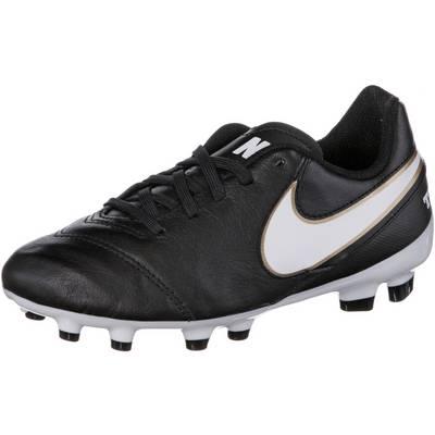 Nike TIEMPO LEGEND VI FG Fußballschuhe Kinder schwarz/weiß
