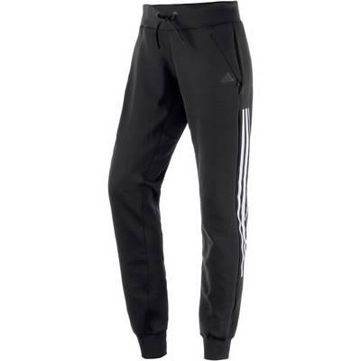 adidas Trainingshose Damen schwarz/weiß