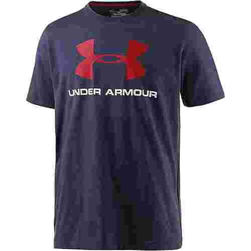 Under Armour HeatGear Sportstyle Logo Funktionsshirt Herren navy/rot
