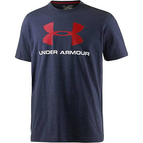 Under Armour HeatGear Sportstyle Logo Funktionsshirt Herren navy/rot