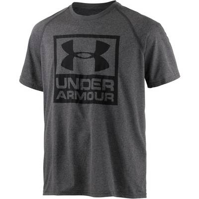 Under Armour HeatGear Boxed Logo Funktionsshirt Herren grau