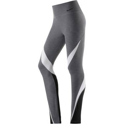 Nike Legendary Fabric Twist Tights Damen grau/weiß/schwarz