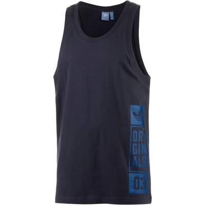 adidas Tanktop Herren schwarz/blau