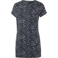 WLD Perfect Twist Longshirt Damen schwarz/hellblau/zebra