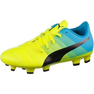 PUMA evoPower 4.3 FG Fußballschuhe Kinder gelb/grün/blau