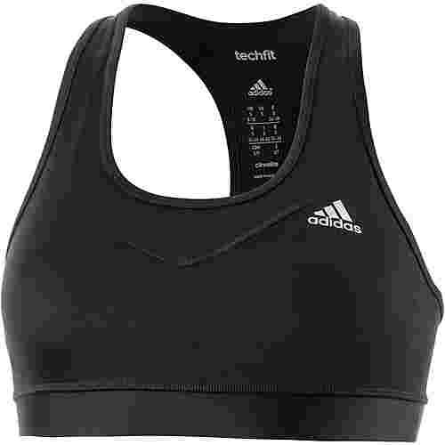 adidas Techfit Sport-BH Damen schwarz