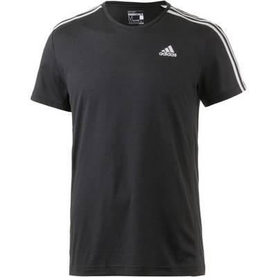 adidas Essential 3S Funktionsshirt Herren schwarz